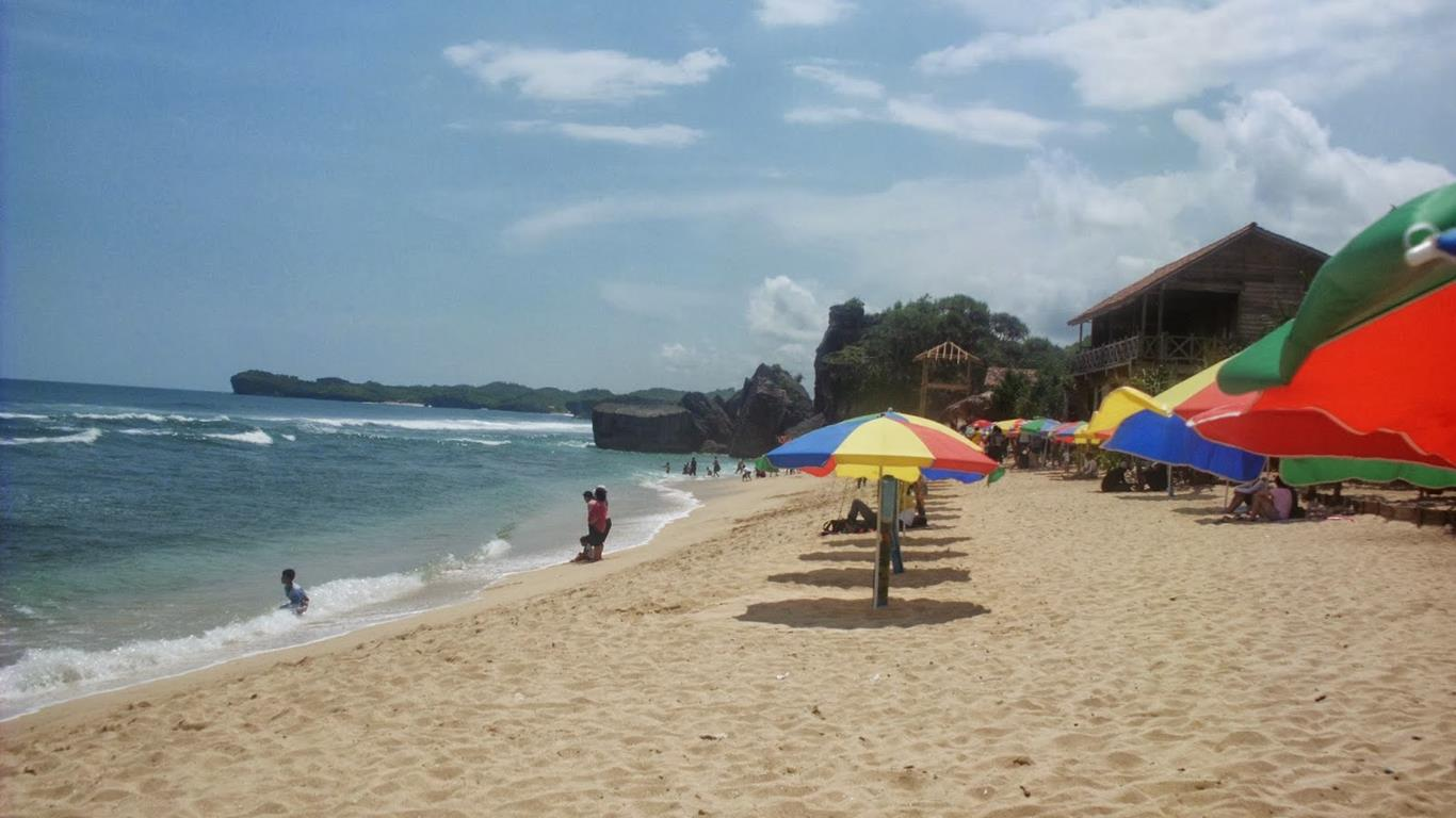 fasilitas pantai indrayanti