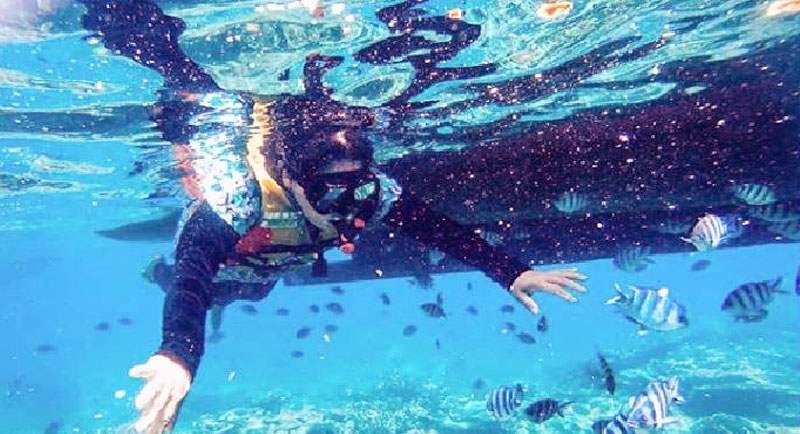 Snorkeling Di Pantai Pulau Merah