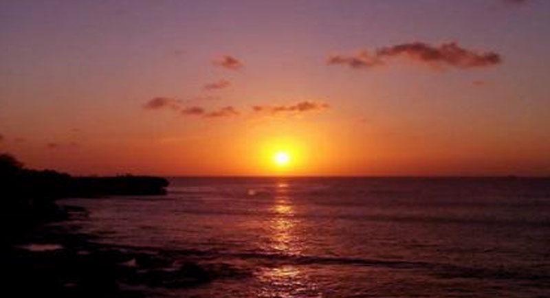 Sunset Pantai Samudra Indah