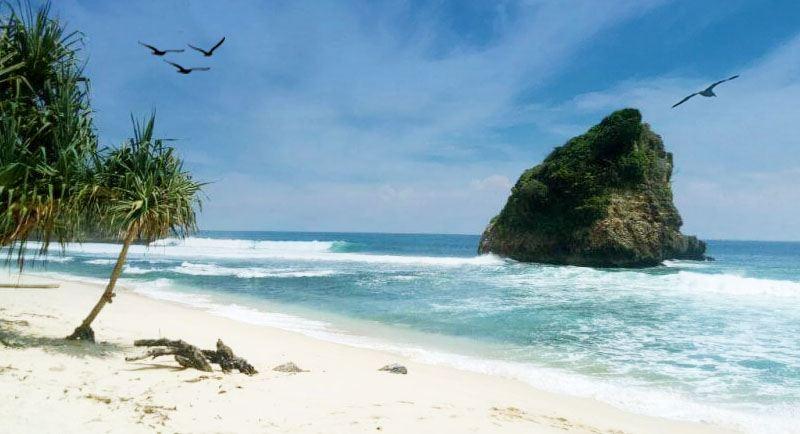 Pantai Ngudel Malang Jawa Timur