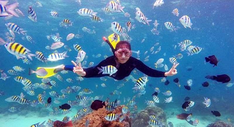 Snorkeling Di Pantai Jaboi