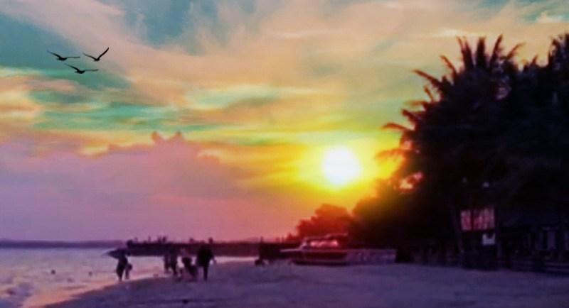 Sunset Di Pantai Kemala Balikpapan