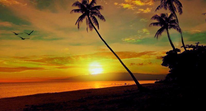 Sunset Di Pantai Lemo