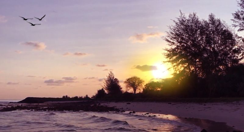 Sunrise Di Pantai Tapak Gajah