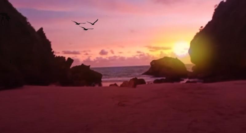 Sunset Di Pantai Wohkudu